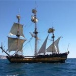 Galeon ruso con el Estrecho